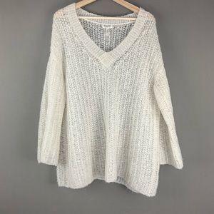 Anthro Meadow Rue Oversized Knit Fuzzy Sweater